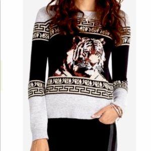 RACHEL Rachel Roy angora blend tiger sweater S